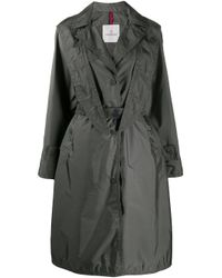 Moncler フーデッド コート Gray