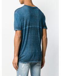 メンズ Avant Toi タイダイ Tシャツ Blue