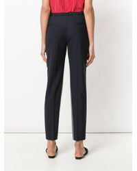 Prada Blue Cropped Tailored Trousers