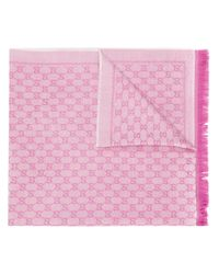 Gucci GGスプリーム スカーフ Pink