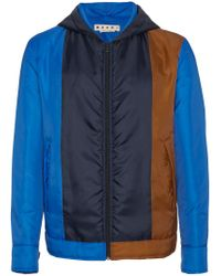 Marni Blue Down Jacket With Hood for men