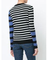 10 Crosby Derek Lam Blue Striped Mock Neck Pullover