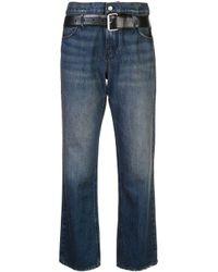 Jean droit à taille ceinturée RTA en coloris Blue