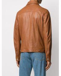 Chaqueta slim Eleventy de hombre de color Brown