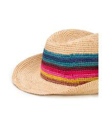 Cappello a tesa larga di Paul Smith in Multicolor da Uomo