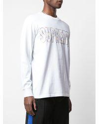 メンズ Supreme International Ls Tシャツ White
