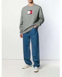 メンズ Tommy Hilfiger ロゴ スウェットシャツ Gray