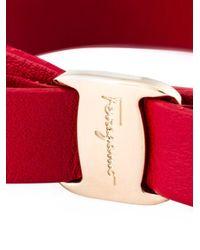 Ferragamo - Metallic 'vara' Bow Bracelet - Lyst