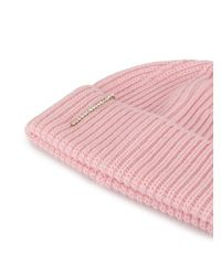Gorro con detalles de perlas Federica Moretti de color Pink