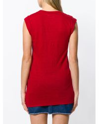 Étoile Isabel Marant - Red V-neck T-shirt - Lyst