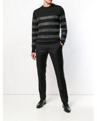 Jersey a rayas con cota de malla Balmain de hombre de color Black