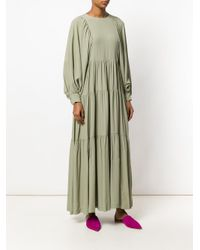 Erika Cavallini Semi Couture - Green Pleated Maxi Dress - Lyst