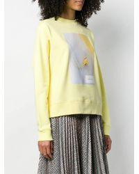Calvin Klein フローラル スウェットシャツ Yellow