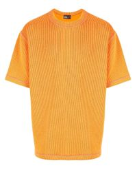 メンズ Kolor コントラストステッチ シャツ Orange