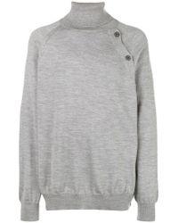 Lanvin - Gray Oversized Turtleneck Sweater for Men - Lyst