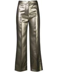 AlexaChung ハイウエスト パンツ Metallic