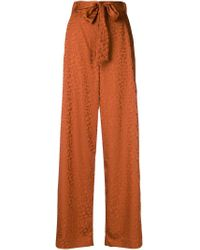 Abstract pattern palazzo trousers Just Cavalli en coloris Brown