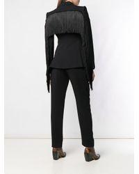 Blazer cintré classique Alberta Ferretti en coloris Black