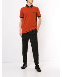 メンズ Emporio Armani カラーブロック ポロシャツ Orange