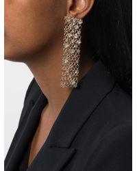 Lanvin   Metallic Embellished Cage Drop Earrings   Lyst