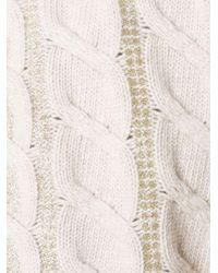Blumarine ケーブルニットセーター Multicolor