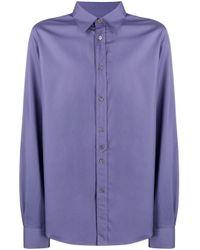 Paul Smith Purple Button-down Cotton Shirt for men