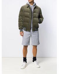 Sudadera recta con capucha Brunello Cucinelli de hombre de color Gray