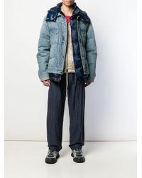 メンズ Sacai パデッドジャケット Blue