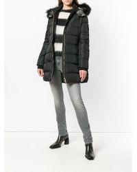 Versace Jeans Black Zipped Padded Coat