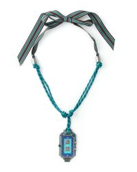 Lanvin - Blue Digital Watch Pendant Necklace - Lyst