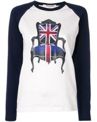 T-shirt à manches longues contrastantes Junya Watanabe en coloris White