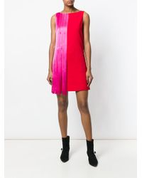 Versace Red Colour Block Mini Dress