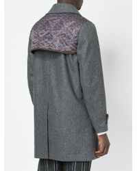 Undercover Gray Floral Panel Coat for men