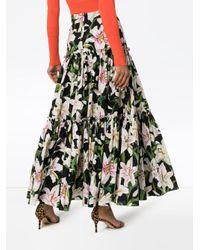 Юбка Со Сборками И Цветочным Принтом Dolce & Gabbana, цвет: Black