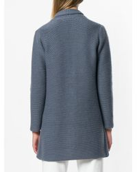 Fabiana Filippi Blue Fitted Zipped Cardi-coat