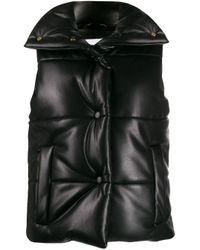 Veste matelassée sans manches Nanushka en coloris Black