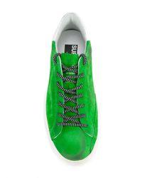 Golden Goose Deluxe Brand - Green Superstar Sneakers for Men - Lyst