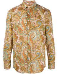 Рубашка С Принтом Пейсли Etro для него, цвет: Yellow