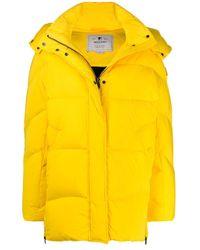 Woolrich Yellow 'Aurora' Daunenmantel mit Kapuze