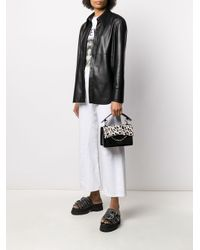 Bolso de hombro K/Karl Seven con motivo de leopardo Karl Lagerfeld de color Black