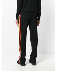 Givenchy | Black Stripe Panel Loose Fit Trousers for Men | Lyst