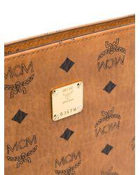 MCM Brown Clutch mit Monogramm-Print