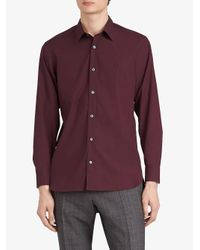 Burberry - Red Chemise à ourlet incurvé for Men - Lyst