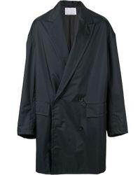 Kolor Doppelreihiger Regenmantel in Black für Herren