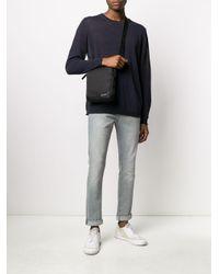 Sacoche à logo imprimé Calvin Klein pour homme en coloris Black