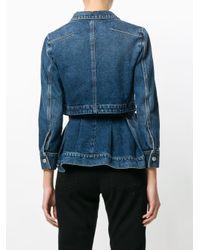 Джинсовая Куртка Alexander McQueen, цвет: Blue