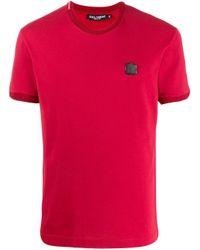 T-shirt con applicazione di Dolce & Gabbana in Multicolor da Uomo
