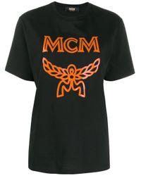 MCM Black Logo Print T-shirt