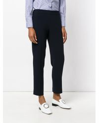 Alberto Biani - Blue Cropped Trousers - Lyst