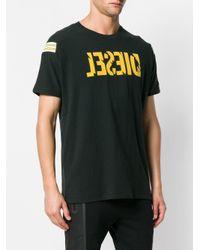 DIESEL - Black Reverse Logo Short-sleeve T-shirt for Men - Lyst